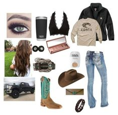 Not the boots, hat or the necklace.but love the rest 💚 Country Girl Outfits, Cute Cowgirl Outfits, Western Outfits Women, Southern Outfits, Rodeo Outfits, Country Girl Style, Country Fashion, Cowgirl Style, Cute Casual Outfits