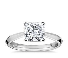 Truly Zac Posen Knife-Edge Solitaire Engagement Ring in Platinum with 2.35-Carat Radiant Diamond $33,387 Stock #: LD03122932 Setting: Stock #: 55261