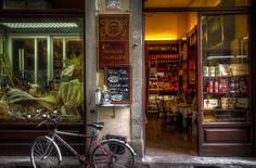 Lucca, Italy...The shops like these are how I will always remember this city