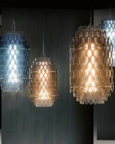 'A two-dimensional element is transformed into multiplying endless volumes' - Slamp presents two new lamps designed by Doriana and Massimiliano Fuksas @slampSpa