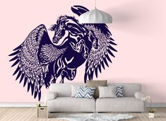 Pegasus - The mythological winged horse - Wall decals / stickers for magical minds...