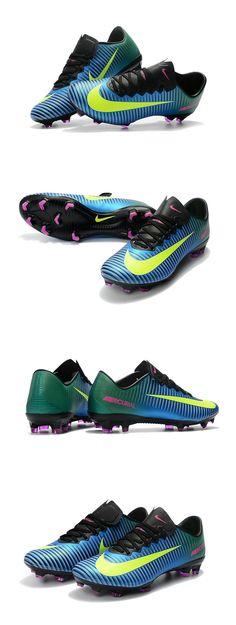 cee108425 Nike Crampon de Foot Mercurial Vapor 11 FG ACC Bleu Blanc