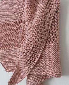 f1b7526ee60c 5.Mon châle rose Tricot Headband, Tricot Femme, Tricot Et Crochet, Tricot