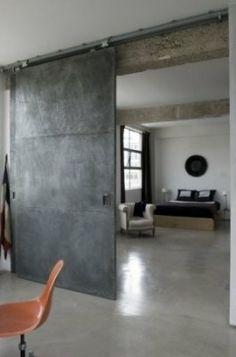 puerta aparente de concreto