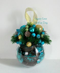 Christmas Bulbs, Christmas Decorations, Holiday Decor, Chocolates, Candy Arrangements, Gifts Under 10, Candy Bouquet, Make A Gift, Online Gifts