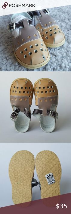 Boys Toddler Sandals For Kids Leather Slipper With Buckle Strap Orthopedic Shoes