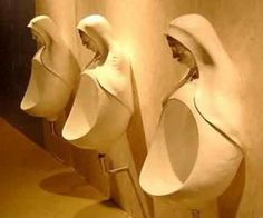 Most Unusual Urinals Ever. Can you even imagine a urinal this strange and unusual. Please Comment.