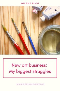 In my new blog post I'm sharing the three things that I've struggled the most with my art business | artist blog Surface Pattern Design, Creative Studio, New Art, My Arts, Business, Artist, Blog, Artists, Blogging