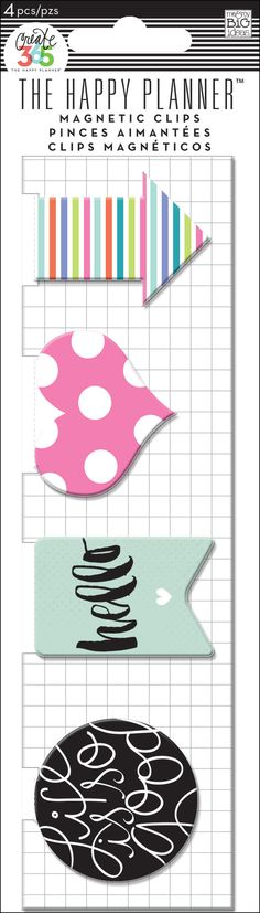 Magnetic Page Clips - Hello for The Happy Planner™   me & my BIG ideas