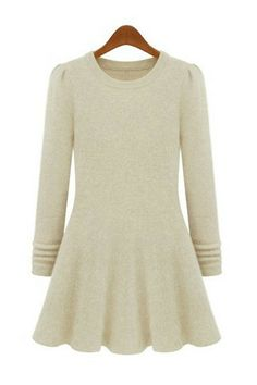 { Back In Stock } Mohair Long Sleeved Skater Dress