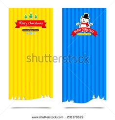 Merry Christmas  banner background vector illustration Collection for greeting card  - stock vector