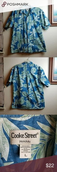 Cooke Street Hawaiian Shirt Cooke Street Hawaiian Shirt made in Honolulu Hawaii in excellent condition. Cooke Street  Shirts Casual Button Down Shirts