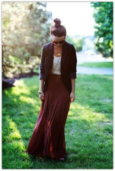 styling a maxi skirt for fall weather!! :)