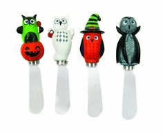 Halloween spreader knives / cheese knife sets.  Perfect for a Halloween party.