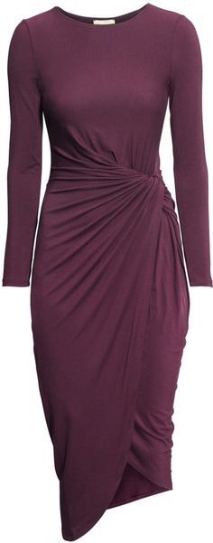 H&M Jersey Dress - Dark purple - Ladies on shopstyle.com