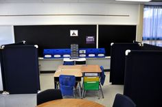 Self-Contained Special Ed room Set-up.  Also tutorial for DIY room dividers/work stations.