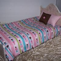 """Comforter Set For 18"""" Dolls Multi Color Buttons Fabric Handmade Lined Comforter from Tangled Threadz"""
