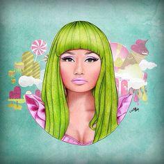 Nicki Minaj dope art