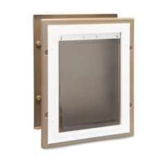 Shop PetSafe Aluminum Pet Large (71- 90 Lbs.) Brown Aluminum Wall Pet (Actual: 10.125-in)undefined at Lowe's.com. The PetSafe Wall Entry Aluminum Pet Door allows your pet to go in and out without the hassle of constantly having to open the door. This door is great for Dog Door Flaps, Types Of Siding, Pet Door, Small Doors, Aluminium Doors, Media Wall, House Wall, Side Door, Lowes Home Improvements
