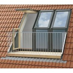 Velux Roof And Roof Balcony. Velux Roof And Roof Balcony For Your Home And House Roofing 2018 here Uk Roofing Solution Balcony Window, Attic Window, Roof Window, Roof Balcony, Tiny Balcony, Attic Renovation, Attic Remodel, Basement Renovations, Bathroom Renovations