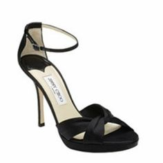 M Size 5 Satin Sandals for Women for sale Ankle Strap Wedges, Ankle Straps, Strappy Sandals, Black Sandals, Cheap Christian Louboutin, Jimmy Choo Shoes, Leather Ballet Flats, Peep Toe Pumps, Beautiful Shoes