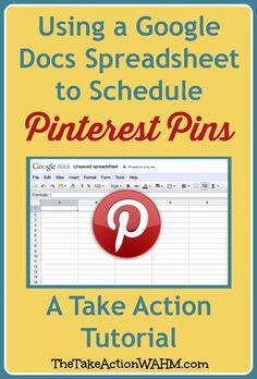 Using Google Docs Spreadsheet to Schedule Pinterest Pins #Pinterest #BloggingTips #SocialMedia