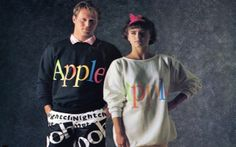 [nggallery id=5969]    Back in 1986, Apple designers took their talents to the closet creating a catalog full of extra short-shorts and trucker hats with rainbow-shaded Apple logos.     They called i