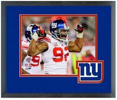 Michael Strahan New York Giants Super Bowl XLII - 11 x 14 Famed & Matted Photo