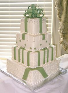Buttercream iced cake with fondant details