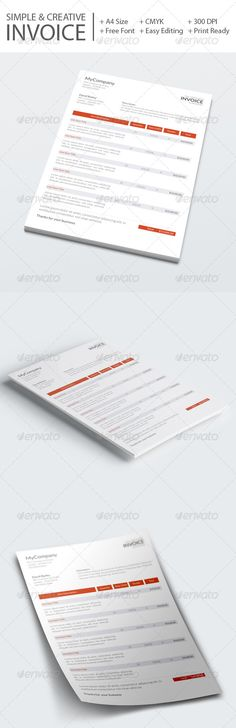 Invoice Template Template, Fonts and Proposal templates - invoice template editable