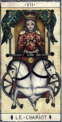 VII. The Chariot - Tarot de Marseille by Pole Ka