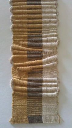 s.ernst - inspired by Sheila Hicks' badagarah. Chunky weft 3D 'layers' make it topographical.