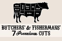 Butchers & Fishermans Meat Cuts - Illustrations - 1