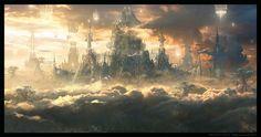 Jupiter Ascending Castle , Raphael Lacoste on ArtStation at https://www.artstation.com/artwork/GaAz3