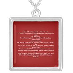 Psalm 23.. necklace