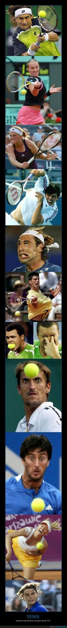 The many faces of tennis.