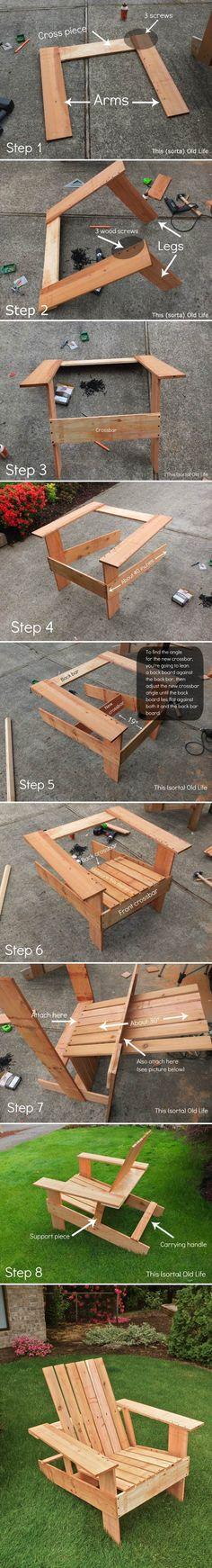 DIY Adirondack Chair - Thehomesteadingboards.com