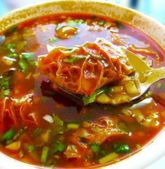 Hot & Spicy Menudo - Featured in Top Chef Masters, Season 1, Episode 3, this recipe was created by Cindy Pawlcyn, the executive chef and owner of three Napa Valley restaurants: Cindy's Backstreet Kitchen, Go Fish, and Mustards Grill.
