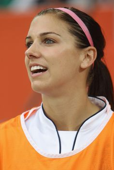 Or tightly pulled back into the perfect ponytail. | 25 Reasons Why Alex Morgan Is The Perfect Lady