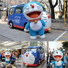 It's been a busy day for Doraemon today. Touring with his van to meet up fans like a superstar at places like Star Ferry Pier at Tsim Sha Tsui, Kowloon Park, school at Sham Shui Po and Causeway Bay. Did any of you see him? #allabouthongkong #Doraemon #hongkong #hk