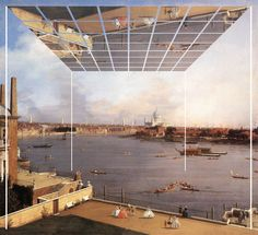 "Lorenzo Degli Esposti, Consolation0001: Consonant Altanella on ""The Thames and the City of London from Richmond House"" by Canaletto (Giovanni Antonio Canal, 1697 – 1768), Milan, 2014"