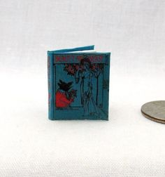 BEAUTY AND THE BEAST Miniature Book Dollhouse 1:12 Scale Readable Illustrated #LittleTHINGSofInterest