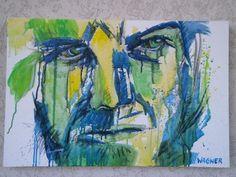 inspiriert von Florian NICOLLE, Acryl auf Leinwand Florian, Poster, Portraits, Painting, Canvas, Head Shots, Painting Art, Posters, Paintings