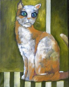 22,54 $US · Painting by Miroslaw Hajnos (Pologne). Prints available from 22,54 $US via #Artmajeur. Licenses available from 36 $US via #Artmajeur. #Painting #Cat #Chat #Gatto #Kot Z Arts, Art Original, Art Et Illustration, Rock, Cat Art, Les Oeuvres, Painting & Drawing, Oil On Canvas, Art Gallery