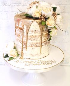 Pretty Parties - Custom Cakes N-92 Naked Cake www.prettyparties.net.au