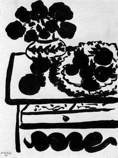 Henri Matisse - Dahlias and Pomegranates