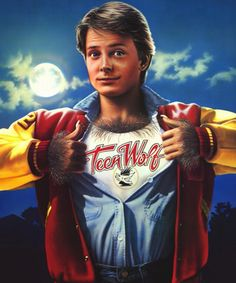 Michael J. Fox was on fire in 1985! Remember him in TEEN WOLF? Loved this movie growing up! Surfing USA!
