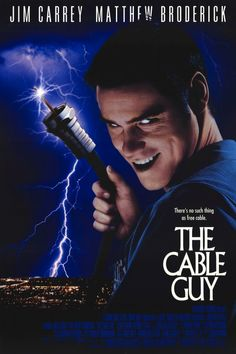 The Cable Guy (1996) Jim Carrey, Matthew Broderick, Leslie Mann, Jack Black, George Segal, Diane Baker, Ben Stiller, Harry O'Reilly... An act of kindness brings a jilted architect (Matthew Broderick) the unwanted friendship of an unbalanced cable-TV installer (Jim Carrey).