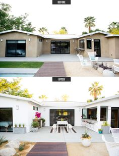 Our Modern Patio Makeover With West Elm via A House in the Hills