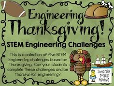 Get ready to engineer all things Thanksgiving (turkeys, tables, the Mayflower and foosball)!Most elementary teachers are more comfortable and knowledgeable with theme topics, so I have decided to create STEM challenge packs based on specific ones, like Thanksgiving!This engineering challenge activity pack is one of many that I have created to use in my classroom!